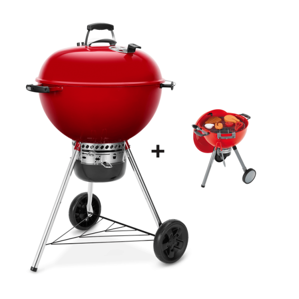 Weber Master-Touch GBS Limited Edition Red + Gratis Spielzeuggrill Kettle Rot